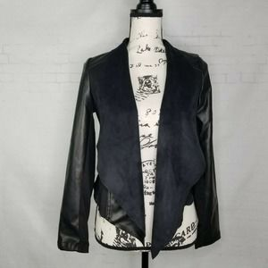 Kut From The Kloth Faux Leather Draped Jacket XS